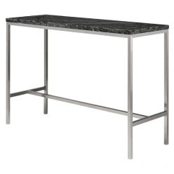 Verona Bar Table Stainless / Black Marble
