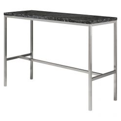 Verona Counter Table Stainless / Black Marble