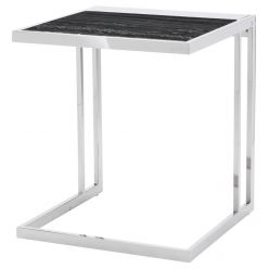 Ethan Side Table Stainless / Black