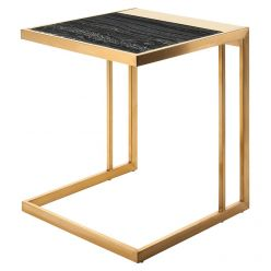 Ethan Side Table Gold / Black