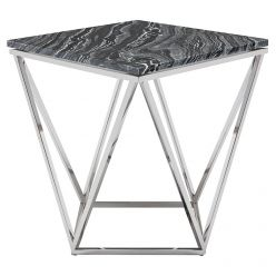 Jasmine Side Table Stainless / Black