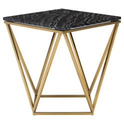 Jasmine Side Table Gold / Black