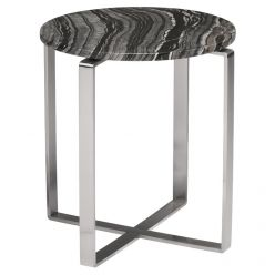 Rosa Side Table Stainless / Black Wood Vein