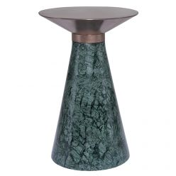 Iris Side Table Small Green / Brushed Copper