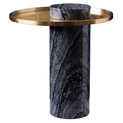 Pillar Side Table Black / Gold