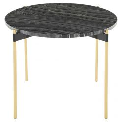 Pixie Side Table Gold / Black