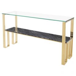 Tierra Console Table Gold / Black