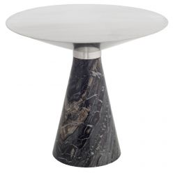 Iris Side Table Large Black / Brushed Stainless
