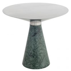 Iris Side Table Large Green / Brushed Stainless