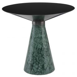 Iris Side Table Large Green / Brushed Graphite