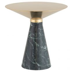 Iris Side Table Large Green / Brushed Gold
