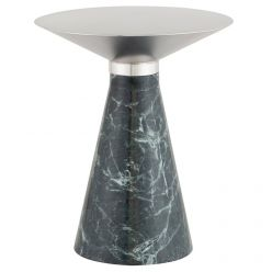 Iris Side Table Medium Green / Brushed Stainless