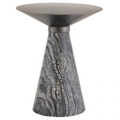 Iris Side Table Medium Black / Brushed Graphite