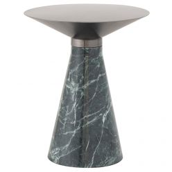 Iris Side Table Medium Green / Brushed Graphite