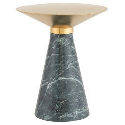 Iris Side Table Medium Green / Brushed Gold