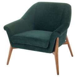 Charlize Chair Walnut / Emerald Green