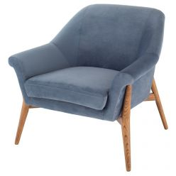 Charlize Chair Walnut / Dusty Blue