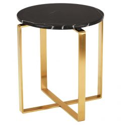 Rosa Side Table Gold / Black
