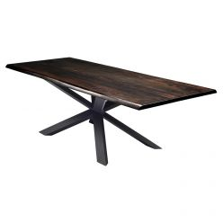 Couture Dining Table Black / Seared Oak