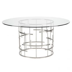 Tiffany Round Dining Table / Silver