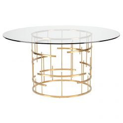 Tiffany Round Dining Table / Gold