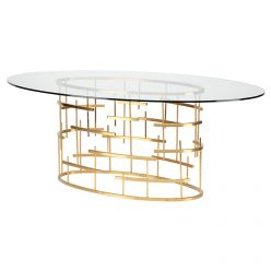 Tiffany Oval Dining Table / Gold