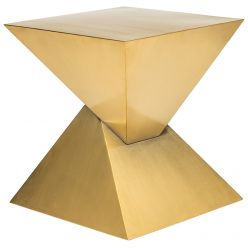 Giza Side Table / Brushed Gold