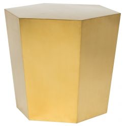 Hexa Tapered Side Table / Brushed Gold