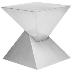 Giza Side Table / Brushed Steel
