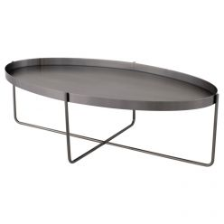 Gaultier Oval Coffee Table / Graphite