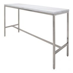Verona Bar Table Stainless / White Marble