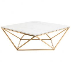 Jasmine Coffee Table Gold / White
