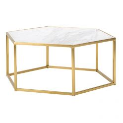 Hexion Coffee Table / Gold