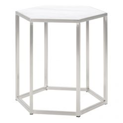 Hexion Side Table / Stainless