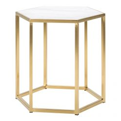 Hexion Side Table / Gold