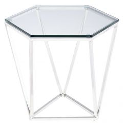 Louisa Side Table / Silver