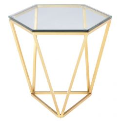 Louisa Side Table / Gold