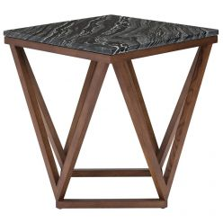 Jasmine Side Table Walnut / Black