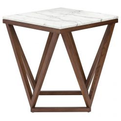 Jasmine Side Table Walnut / White