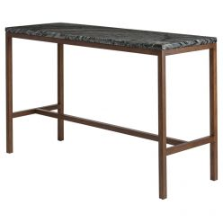 Verona Counter Table Ash / Black Marble
