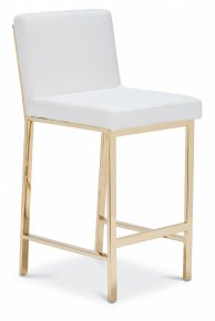 Brook Counter Stool Gold / White