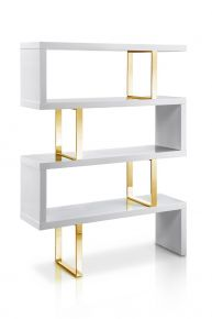 Jonathan Bookcase Gold / White