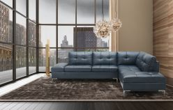 Madison Leather sectional / Blue