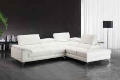 Astra Leather Sectional / White