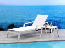 Kiara Outdoor Chaise / White