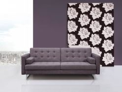 Jersey Sofa Bed / Grey Fabric