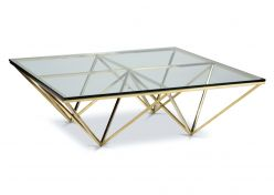 Soma Square Coffee Table / Gold