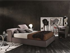 Ferrara Storage Bed / Taupe Fabric