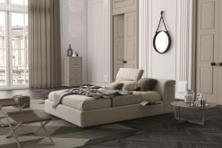 Ferrara Storage Bed / Beige Fabric