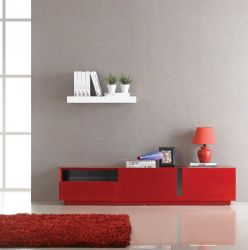 TV027 RED HIGH GLOSS TV STAND